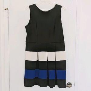 AA Studio colorblock sleeveless dress